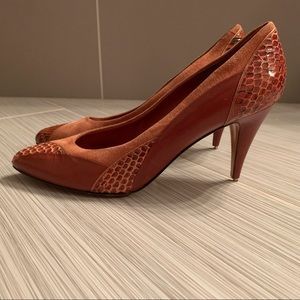 Vintage Bally tri-texture heels made in Italy